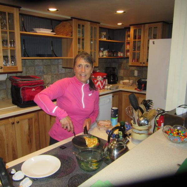 Martha making omelettes