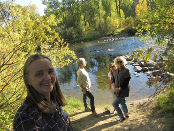 Judy, Nora, Suzanne, Sheryl down by the Yampa River