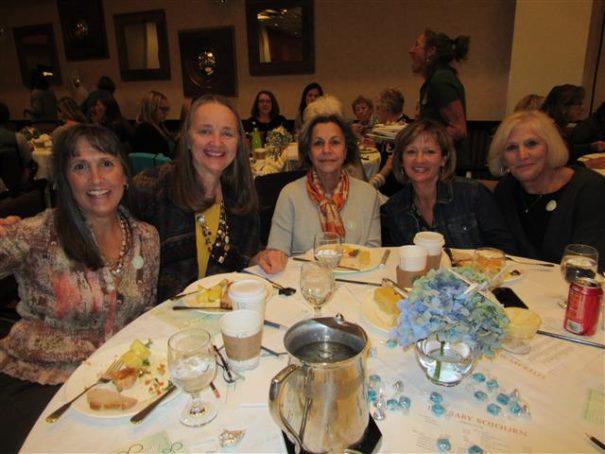 Martha, Judy, Nora, Suzanne at Sojourn luncheon