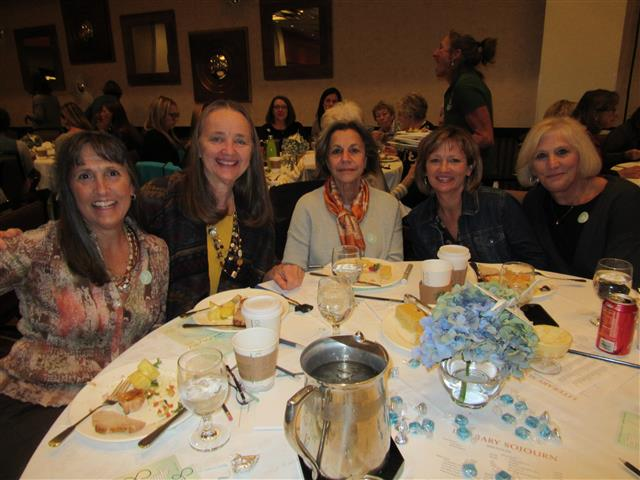 Martha, Judy, Nora, Suzanne at Sojourn luncheon